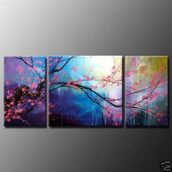 tree, trees,flower, flowers, pink flowers,  tree with blue background,tree with pink flowers
