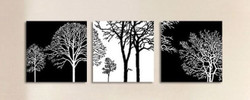 trees, forest, monchromatic tree,black and white tree, minimalistic