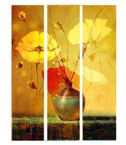 Landscape,Multipiece,Tree,Flowers,,Vase,Floral Vase,Flower Pot