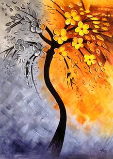 flower, flowers, white flowers, orange flower, black and white