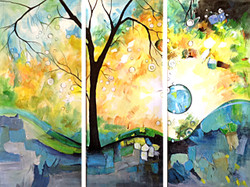 tree, trees, one tree, tree with moon, multi piece tree