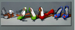 Shoe Pairs,Green,Red ,Orange Shoes ,heels,Women Heels,High Heels
