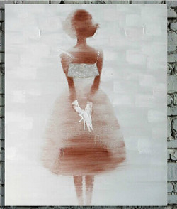 abstract, abstract girl, girl painting, lady, lady painting, girl in white dress, lady in white dress, woman, woman painting, woman in white dress