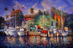 landscape,seascape,boats, boats on harbour,trees, coconut trees, beach, yorts