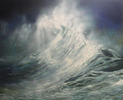 seascape, landscape, sea , painting of the sea, wave, waves, wavy sea, thunder, storm, painting of storm, huge waves