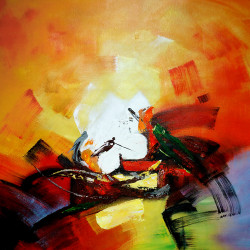 abstract, abstract painting,orange abstract, white abstract, blue