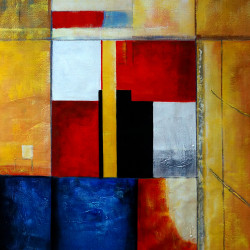 abstract, abstract painting,orange abstract, white abstract, blue, multi color abstract, block, square, cube