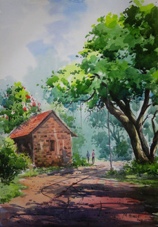 Landscape,Nature,Tree,House,Town