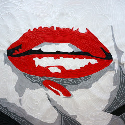 Pop Art,Red Lips,Lip Expressions,Red Lipstick,Red Nail Paint