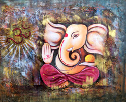 ganesha, lord ganesha, ganapati, ganapati with musical instrument, dhol, music, om