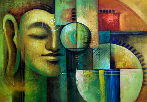 buddha, abstract green buddha,gautam buddha, the enlightened