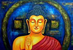 buddha, lord buddha, gautam buddha, blessing buddha, orange buddha