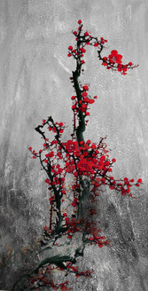 Fengshui Tree,Floral Tree,Red Flower Tree,Red Flower Bunch