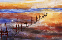 Color Spalsh,Multi Color Art,Colorful Life,Yellow ,Brown Shades Colors,Wooden Way