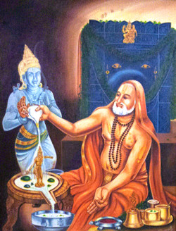 man, figurative, man worshipping god, god, pujari, traditional man