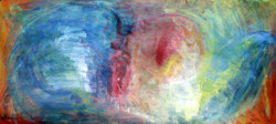 Abstract - Handpainted Art Painting - 27in X 12in