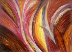 StrokeMagic - 36in X 24in,26Line42_3624,Red, Pink, Orange,Rs.2990,Abstract;Latest Collection;Promotions/Curator Fav. Picks Under 5000;By Orientation and Size/Horizontal/Large (33in to 40in);Full Collection Painting