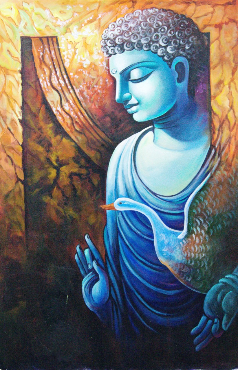 Buy buddha paintings online in india in affordable price for Buy art online india