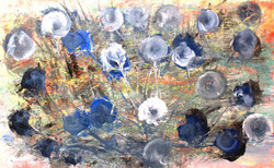 abstract, blue abstract, abatract flowers, blue flowers