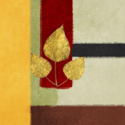 Three Golden Leaf,three Leafs,Yellow Strip,Black Strip,Brown Strip