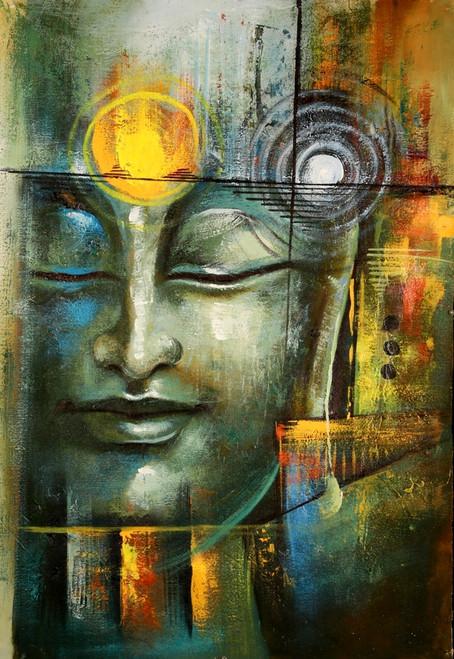 Buddha,Green Shade Buddha,Shanti,Peace,Meditation