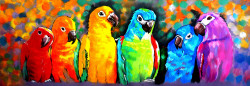 birds, parrots, parrots on trees, red parrot, family of parrot, voilet parrot, birds on tre, multi color birds