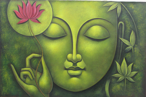 Buy buddha paintings online in india with affordable price buddha in meditation07 36in x 24inrajmer423624acrylic colorsbuddha peace sciox Image collections