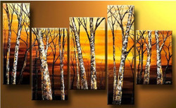 Forest - 72in x 40in (Details Inside),RTCSD_15_7240,Trees,Multipiece  - 100% Handpainted Buy Painting Online in India.