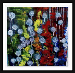 abstract , abstract art, multi color abstract