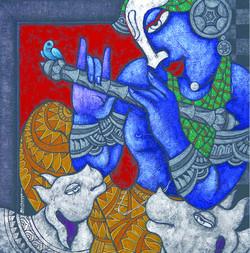 Krishna, lord krishna, krishna with gopi,gopikas, abstract krishna, krishna woth cow, cow, flute , krishna with flute