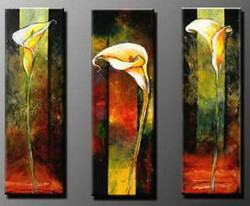 Magic of  Three - 12in X 32in each X 3Pcs.,RTCSB_67_3632,Oil Colors,Museum Quality - 100% Handpainted,Multipiece Paintings,Modern art - Buy Painting Online in India.