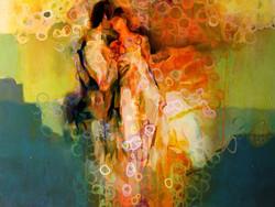 Love - Handpainted Art Painting - 32in X 24in