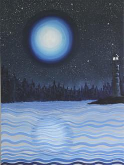 Light House,guiding light,Moon Light,Night View