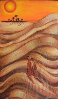 Figurative,Figure,Desert,Women,Sun