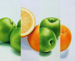 Stll Life,Fruits,Fruit Dish,Apple ,Oranges,GreenApple