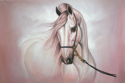Strength and Valor02 - 36in X 24in,RAJMER51_3624,Acrylic Colors,Race,Horse  - Buy Paintings online in India