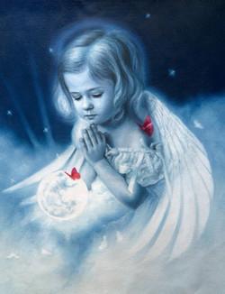 52Angel01,Little Kid,Little  Girl,Prying God