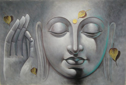 Mahanirvana 06 - 36in X 24in,RAJVEN09_3624,Acrylic Colors,Peace,Buddha,Shanti,Meditation,Buddhism - Buy Paintings online in India