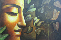 Mahanirvana 10 - 36in X 24in,RAJVEN13_3624,Acrylic Colors,Peace,Buddha,Shanti,Meditation,Buddhism - Buy Paintings online in India