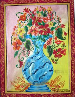flower, flower vase