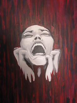 lady, girl ,woman, woman screaming