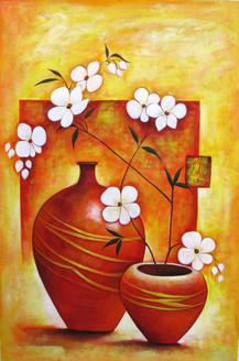 Ensemble 1 - 24in X 36in,RAJEAR16_2436,Acrylic Colors,Pottery,Vase,Flower in Vase  - Buy Paintings online in India