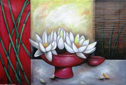 Ensemble 6 - 36in X 24in,RAJEAR22_3624,Acrylic Colors,Pottery,Vase,Beautiful Flower in Vase  - Buy Paintings online in India