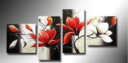 Elegant - 72in x 24in (Details Inside),RTCSD_23_7224,Multipiece, Floral,Flowers - 100% Handpainted Buy Painting Online in India.,