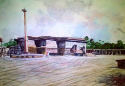 temple, landscape, cityscape