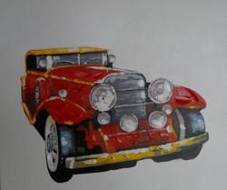 Joyride - 40in x 40in,RTCSD_29_4040,Jip,Vhan,Long Drive,Car - 100% Handpainted Buy Painting Online in India