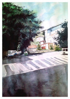 ART_SHLI,Bangalore cityscape,Roads,City,tree