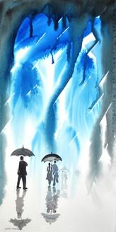 Landscape,Nature,Rainy Days,Couple,Umbrella