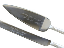 Personalized Engraved Cake Server Set
