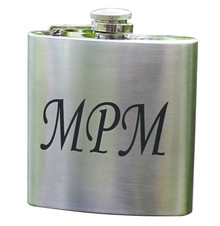 Personalized Silver Flask